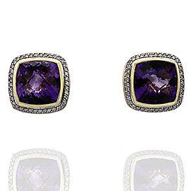 Yurman Amethyst & Diamond Earrings in Gold