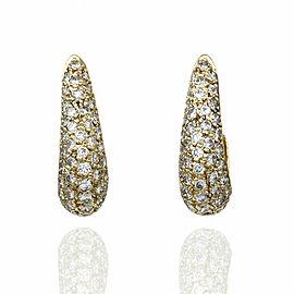 Diamond J Earrings in Gold