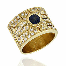 Sapphire and Diamond Ring in Gold
