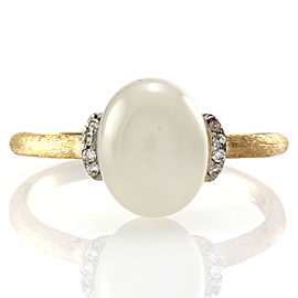 Nanis Dancing in the Rain Moonstone and Pave Diamond Ring in 18K Yellow Gold