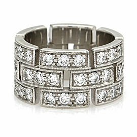 Diamond Pave Eternity Band Ring in Platinum