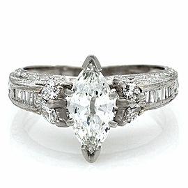 0.80ct Marquise Cut Diamond Engagement Ring in Platinum