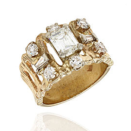Mixed Cut Diamond Ring in Gold