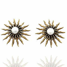Joseff of Hollywood Sunburst Earrings in Metal