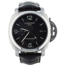 PANERAI PAM329 PAM320 GMT STEEL BRACELET AND LEATHER STRAP w/ DEPLOYANT