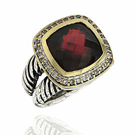 Yurman Garnet Albion Ring in Silver and Gold