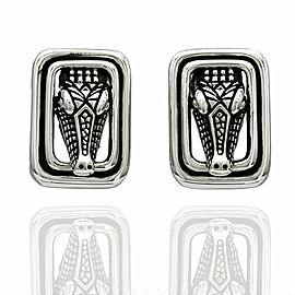 Kieselstein Alligator Earrings in Silver