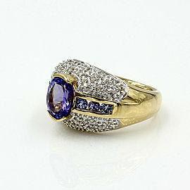 Tanzanite and Diamond Ring in Gold