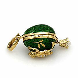 Faberge Frog Egg Pendant in Gold