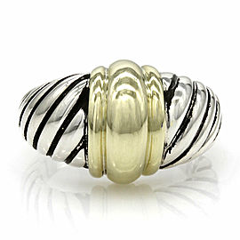 David Yurman Dome Ring in Sterling Silver and 14K Yellow Gold