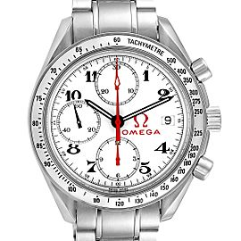 Omega Speedmaster White Dial Chronograph Mens Watch 3515.20.00 Box Card