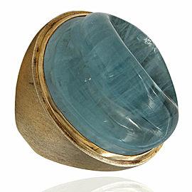 Bruno Guidi Carved Aqua Ring