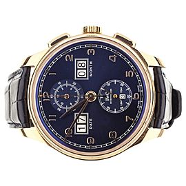 IWC PORTUGUESE CHRONO DIGITAL PERPETUAL REF IW397204 BLUE DIAL 45mm COMPLETE SET