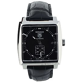 Tag Heuer Monaco Calibre 6 ref WW2110-0 Black dial 38mm