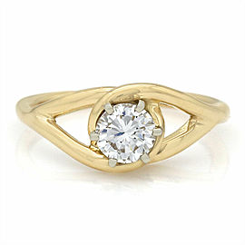 Diamond Solitaire Open Ring in Gold