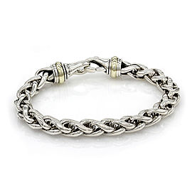 David Yurman Classic Woven Bracelet in Silver and gold