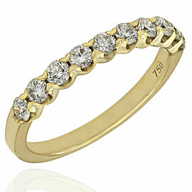 Single Row Diamond Ring in Gold