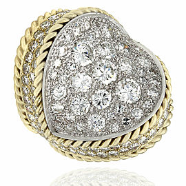 18KY Rope Edged Diamond Concave Ring in Gold
