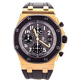 AUDEMARS PIGUET 18KR ROYAL OAK OFFSHORE Rubberclad CHRONO BOX/PAPERS 25940OK.OO.D002CA.01