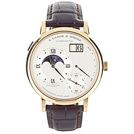 A. Lange and Sohne Grand Lange 1 Moonphase Rose Gold 41mm ref:139.032 Full Set