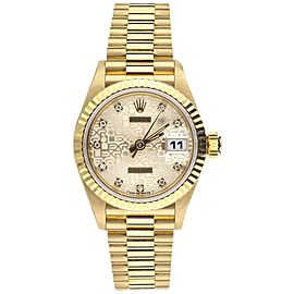 Rolex Datejust ref: 69178 Jubilee dial diamond indicators yellow gold