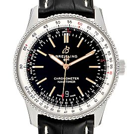 Breitling Navitimer 1 Black Dial 41mm Steel Mens Watch A17326 Box Papers