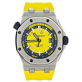 Audemars Piguet Royal Oak Offshore Diver Yellow Dial 15710ST.OO.A051CA.01 Full S