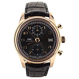 IWC Portuguese 7 Day Black Dial Automatic IW5001 Pelaton Winding System Complete