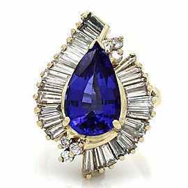 Tanzanite and Diamond Ring 14KY