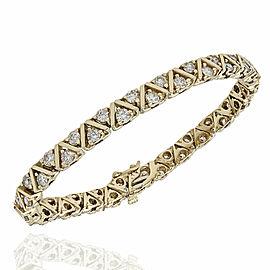 14KY Diamond Zig Zag Bracelet