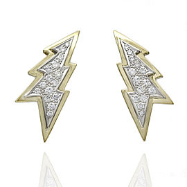18K Diamond Lightning Bolt Earrings