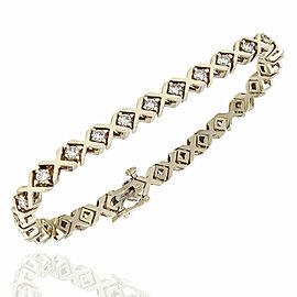14K Diamond X Bracelet