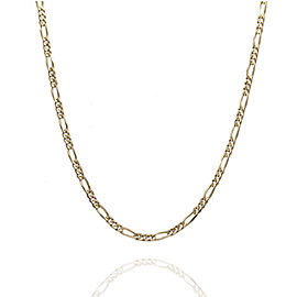 14KY Figaro Chain Necklace 19 IN
