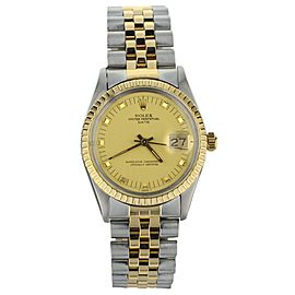 Rolex Oyster Perpetual Date, Champagne Dial, Two-Tone Ref: 15053