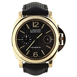 Panerai Luminor Marina 44mm PAM140 Leather Strap Deployant Clasp