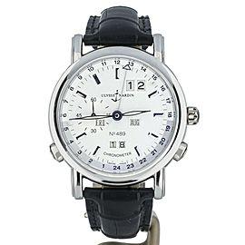 Ulysse Nardin GMT +/- Perpetual Calendar ref: 329-80 40mm Platinum