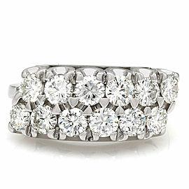 14kw 2 Row Diamond Ring