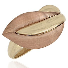 14K Leaf Shape Ring