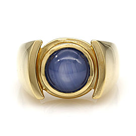 Gentlemans Synthetic Blue Star Sappphire Ring