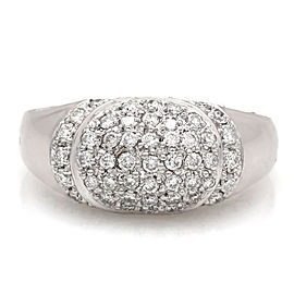 18KW Diamond Dome Ring