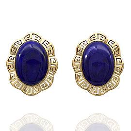 14KY Oval Lapis Earrings