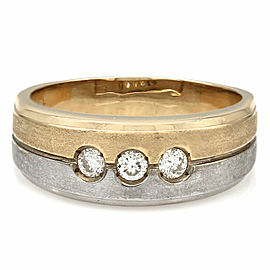 Gentlemans 14K 2 Tone Diamond Ring