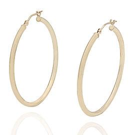 14KY Thin Hoop Earrings