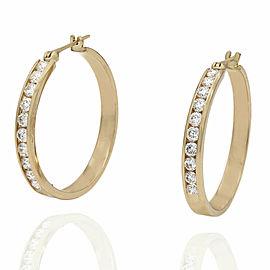 14KY Diamond Hoops Earrings
