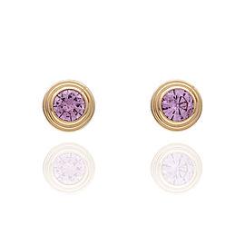 Cartier Diamants Legers Pink Sapphire Stud Earrings