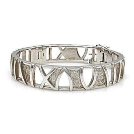 Designer Breuning Solid 925 Sterling Silver Roman Numeral Bangle Bracelet