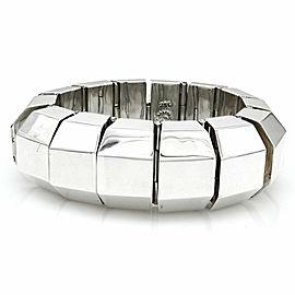 Large Vintage Modernist Mexican Handmade Sterling Silver Bracelet