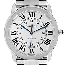 Cartier Ronde Solo Silver Dial Automatic Steel Ladies Watch WSRN0012 Box Papers