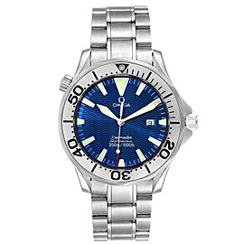 Omega Seamaster Electric Blue Wave Dial Mens Watch 2265.80.00