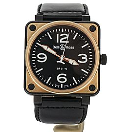 Bell & Ross BR01-s/r Rose Gold Stainless Steel 46mm Full Set